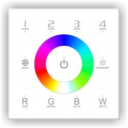Commande Murale Tactile R/F RGBW 4 Zones