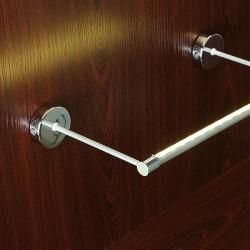 Support de montage Double 100mm avec cache Profilé LED Tube