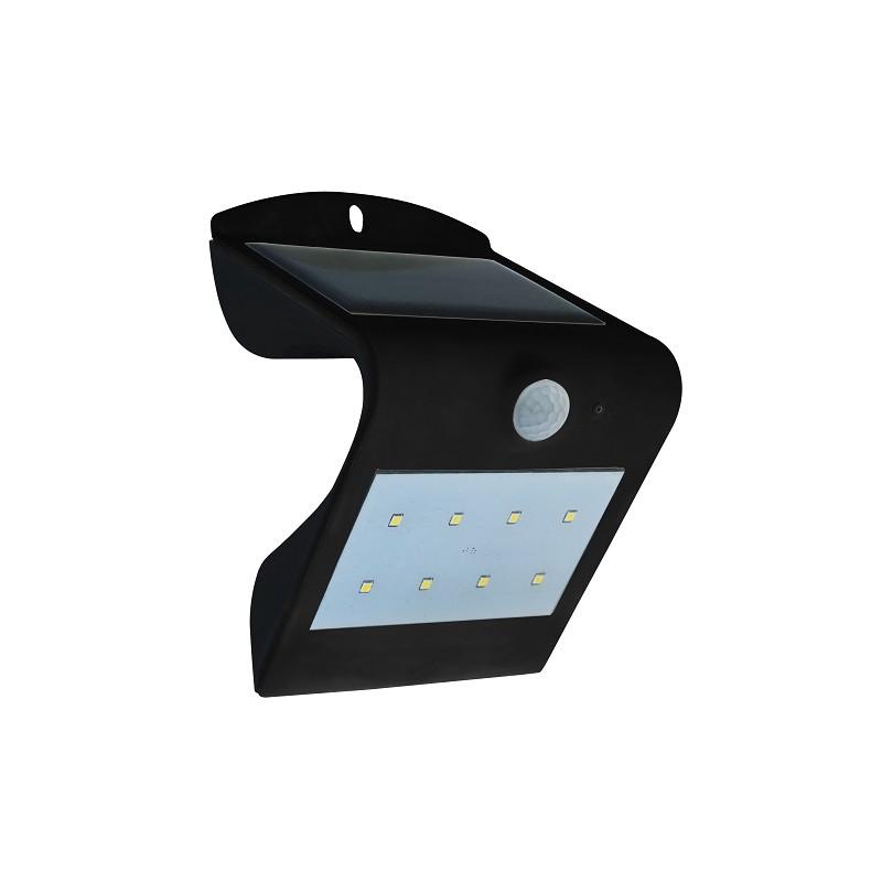 applique murale solaire noir 1 5w 200lm. Black Bedroom Furniture Sets. Home Design Ideas